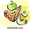 apple pie Vector Clipart image