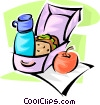 Vector Clipart graphic  of a lunch