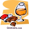 cognac and chocolate Vector Clip Art graphic