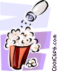 Vector Clip Art picture  of a Popcorn and a salt shaker