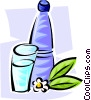 Vector Clipart graphic  of a bottled water