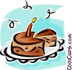Vector Clip Art picture  of a birthday cake