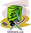 Vector Clip Art image  of a olives