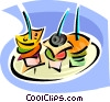 hors d'oeuvres Vector Clip Art picture