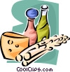 Vector Clipart graphic  of a cheese