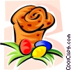 Easter eggs and muffins Vector Clip Art graphic