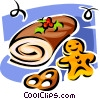 Vector Clipart picture  of a Christmas desserts