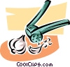garlic press Vector Clipart picture