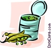 Vector Clipart graphic  of a can of peas