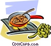 Vector Clip Art graphic  of a stir fry