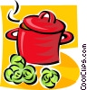 cooking pot Vector Clipart image
