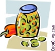 jar of olives Vector Clipart illustration
