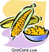Vector Clipart graphic  of a corn on the cob