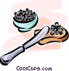 Vector Clip Art image  of a caviar