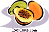 Vector Clipart image  of a papaya