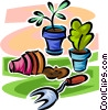 potted plants Vector Clip Art graphic