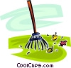 Vector Clipart graphic  of a garden rake