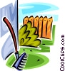 garden rake Vector Clipart illustration