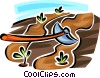 Vector Clipart illustration  of a garden hoe