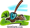 Vector Clipart illustration  of a shovel