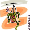 hanging plant Vector Clipart graphic