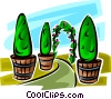 Vector Clip Art picture  of a shrubs