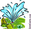 Vector Clipart picture  of a water sprinkler
