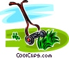 Vector Clipart illustration  of a push lawnmower