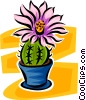 Vector Clipart image  of a flower