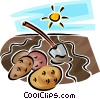 Vector Clip Art image  of a potato