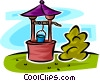 Vector Clip Art image  of a drinking well