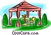 gazebo Vector Clipart illustration