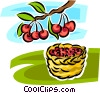 apple trees Vector Clipart illustration