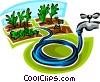 garden hose Vector Clip Art graphic