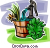 Vector Clipart picture  of a hand water pump