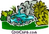 garden pond Vector Clipart picture