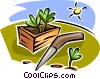 Vector Clip Art graphic  of a plants in a planter