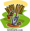 gardening trowel Vector Clipart graphic