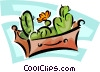 Vector Clip Art graphic  of a plants growing in a box