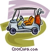 Vector Clipart graphic  of a Electric golf cart