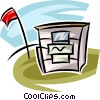 water station on a golf course Vector Clipart illustration