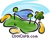 Vector Clipart illustration  of a golf green