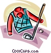 golf club and shirt Vector Clip Art picture