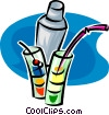 Vector Clip Art image  of a special health drinks with a