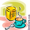 Vector Clip Art graphic  of a cup of herbal teas