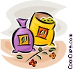 Vector Clipart image  of a bag of grains