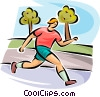 Vector Clipart illustration  of a man jogging