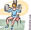 Woman working out Vector Clipart image