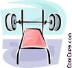 Vector Clipart picture  of a bench press
