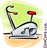 Vector Clipart picture  of a stationary bicycle